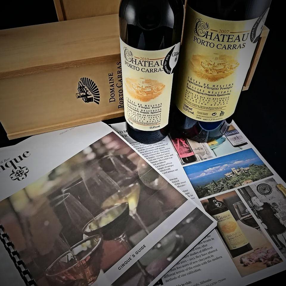 Chateau Porto Carras greek wine Cinque wine bar Atnens
