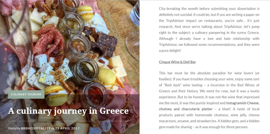A culinary journey in Greece