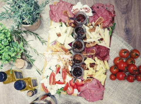 exquisite taste greek products cheese and charcuterie tasting Cinque wine bar