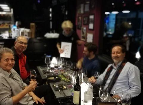 Greek wine tasting Cinque wine deli bar