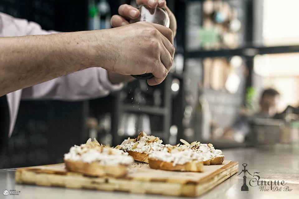 Greek exquisite taste delicacies Cinque wine bar Athens