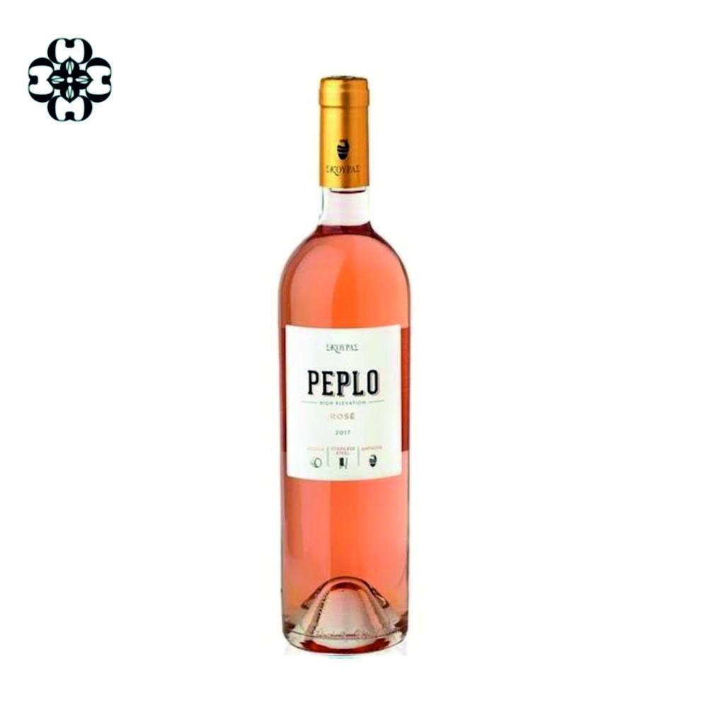 Cinque wine bar greek wines Peplo rose Domaine Skouras
