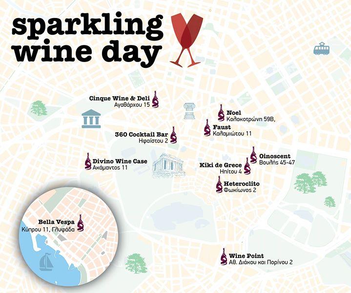 sparkling wine day Cinque wine bar Athens