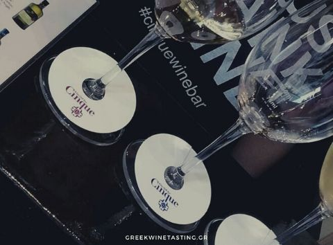 wine tasting Cinque wine bar