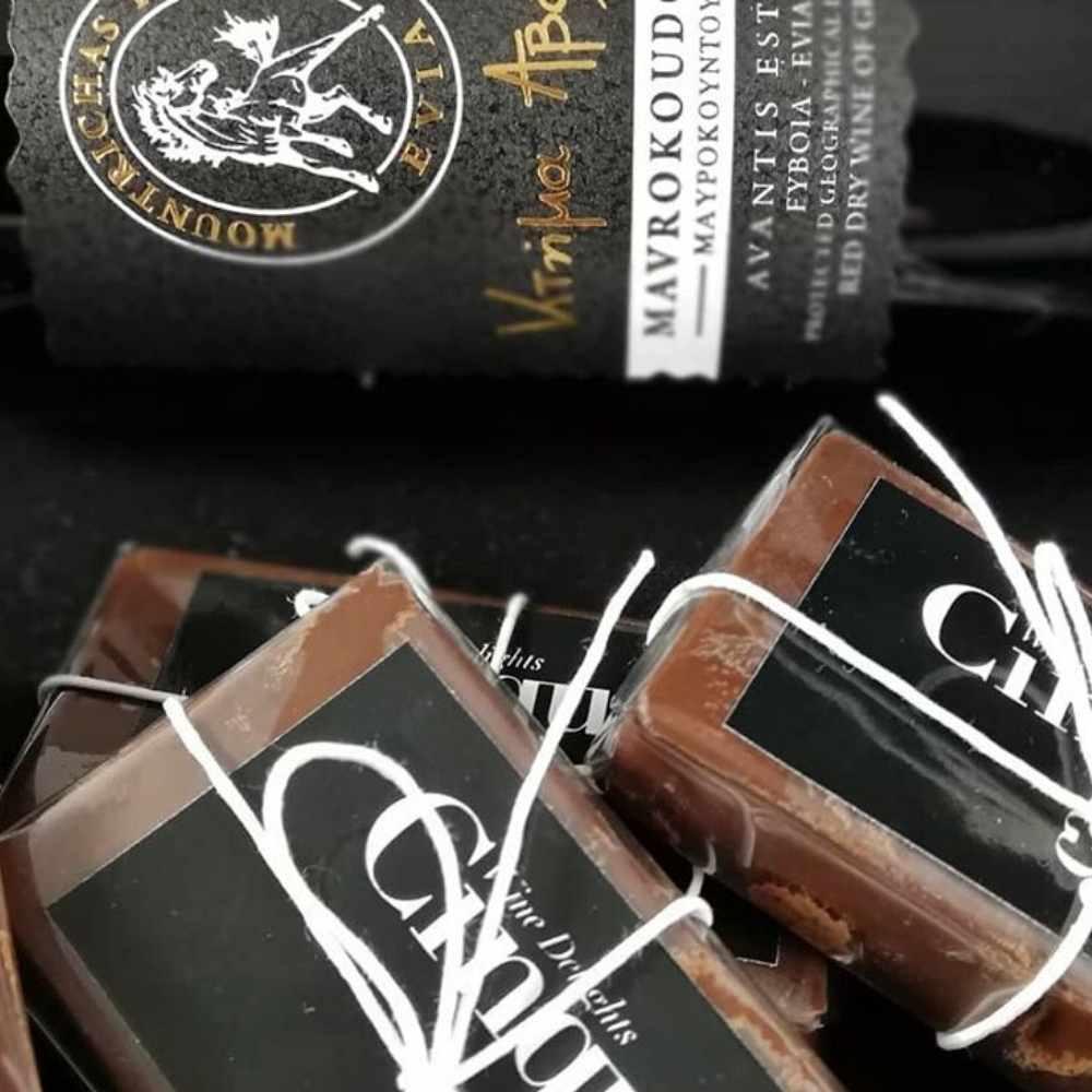 Mavrokontoura Avantis Estate wine chocolate homemade Cinque Athens
