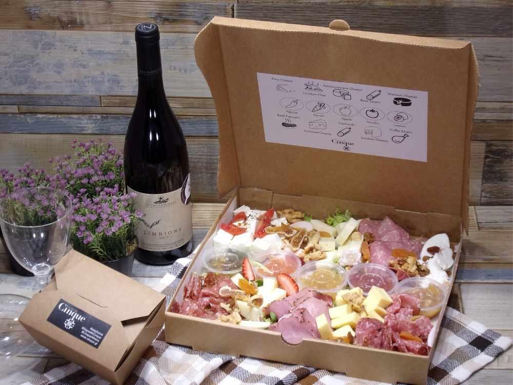 Take out greek charcuterie Cinque Athens Zafirakis winery