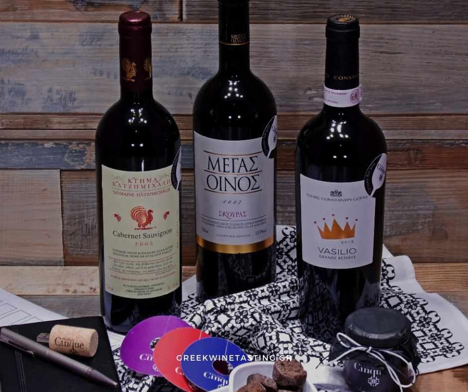 Virtual tasting Cinque wine bar Athens